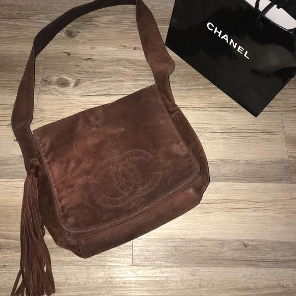 cee079f0caaf CHANEL Handbags - Chanel authentic vintage suede